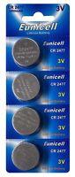 ☀️☀️☀️☀️☀️ 4 x CR2477 3V Lithium Knopfzelle 1050 mAh (1 Card a 4 Batterien)Euni