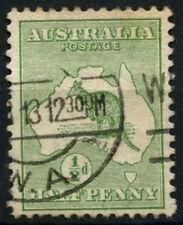 Australia 1913-1914 SG#1, 1/2d Green Kangaroo Used #D48309