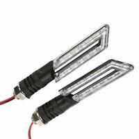 2x Motorrad LED Blinker für Roller Mofa QUAD Set Paar Blinkleuchten