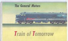 1940s GENERAL MOTORS & FRIGIDAIRE TRAIN OF TOMORROW AD BROCHURE DUO