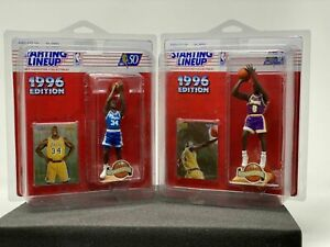 1996 EXTENDED KENNER NBA STARTING LINEUP COMPLETE SET OF 8 w/ Kobe Bryant