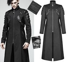 Manteau long gothique punk militaire armure sangles chevrons mode PunkRave Homme
