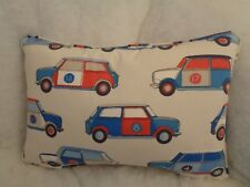 "POP CARS BY JANE CHURCHILL OBLONG CUSHION 18""x12""(46 CM X 30CM) DOUBLE SIDED/ZIP"