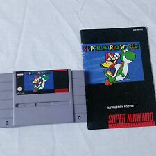 Super Mario World SNES Super Nintendo 1991 Video Game Cartridge Manual