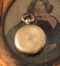 Antique Case Gold Filled Pocket Watch Photo Mourning Locket Sweet