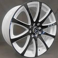 4 ~ 17x7 White Diamond 3114z white and black custom Wheels 5x100 / 5x114.3 +35mm