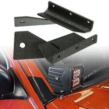 2pc Windshield 4'' LED Work Light Mounting Bracket For Jeep Cherokee XJ  +