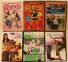 6 teens wokout DVD lot Byou 2 Cosmo Girl Jillian Michaels yoga dance for girls