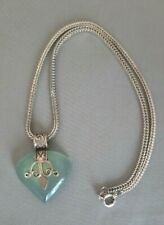 Sterling Silver and Chrysoprase Pendant Necklace
