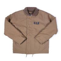 2019 OKONKWO Navy N-1 DECK JACKET Vintage USN Military Uniform Men's Coat Tops