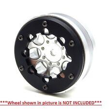 Gear Head RC Axial 1.9 Wheel Beadlock Ring Style No 9 Black Delrin (4) GEA1245