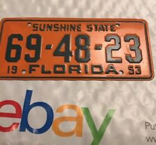 Vintage 1953 FLORIDA SUNSHINE STATE Bicycle License Plate Wheaties Cereal