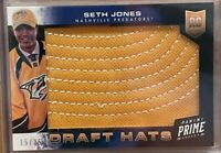 2013-14 PANINI PRIME DRAFT HATS SETH JONES 15 OF 25 NASHVILLE / COLUMBUS
