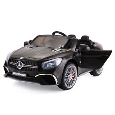 12V Kids Ride On Car Mercedes Benz License MP3 Remote Control Power Wheels Black
