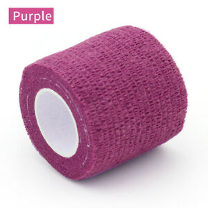 24pcs Colorful Tattoo Adhesive Bandage Grip Wrap Self Adherent Tape 5cm*4.5m