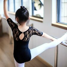 Toddler Girls Gymnastic Leotard Dress Ballet Tutu Skirt Dance Lace Skate Costume