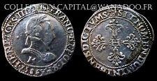 Henri III Franc 1586M Toulouse  Très belle Monnaie Argent/Silver