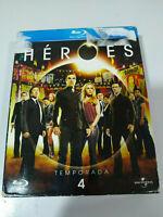 HEROES Temporada 4 - 4 x Blu-Ray Edicion Especial Español Ingles Frances - 3T