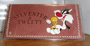 SYLVESTER & TWEETY CHECKBOOK COVER. LOONEY TUNES CARTOONS.....FREE SHIPPING