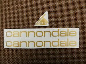 GOLD 87-88 Vintage Cannondale Decal Alpine Criterium Touring REPRODUCTION GOLD