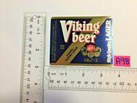 VTG NOS MINT Viking Klass III ABRO Lager Beer Bier Biere BREWERY BOTTLE LABEL