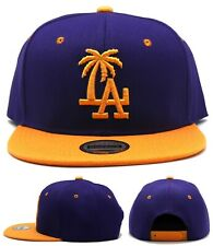 Los Angeles New Leader Palm LA Headlines Kings Purple Gold Era Snapback Hat Cap