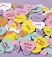20 Foam Valentine Inspirational Conversation Hearts Religious