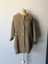 Vince Size L Button Down Knitted Half Sleeve Cashmere Wool Blend Sweater