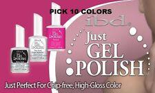 IBD Just Gel Polish Soak off CHOOSE 10 COLORS SET OF YOUR CHOICE. 0.5 OZ