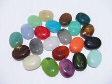 20pz  misti perline ovale in acrilico spacer separatori  19x15mm  bijoux