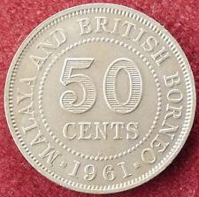 Malaya BRITISH BORNEO e 50 CENTESIMI 1961 H (D3004)