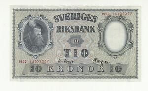 Sweden 10 kronor 1952 EF @ low start