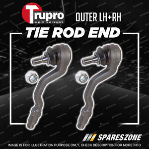 Pair Trupro Outer Tie Rod Ends for BMW X5 E70 X6 E71 Wagon Coupe AWD 2004-2014
