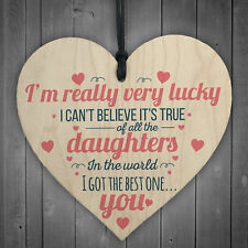 Got The Best Daughter Hanging Heart Signs Mum Family Love Gifts for Her Plaques