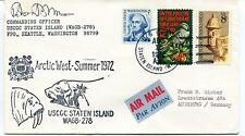 1972 USCGC Staten Island WAGB-278 Seattle Arctic West Summer Polar Cover SIGNED