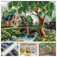 Stamped Cross Stitch Kit. Precision Imprimé 11 CT Aida Toile Art & Craft New