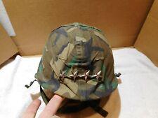 Us M1 Helmet Vietnam Cold War era w/ chinstraps, Olive Drab cover & Liner