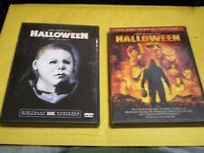 (2) Halloween Horror DVD Lot: Jamie Lee Curtis Original & Rob Zombie Remake