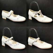 Dubarry of Ireland White Satin Leather First Communion Confirmation Heels Shoes