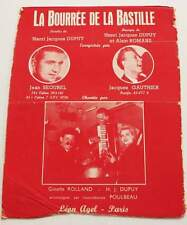 Partition sheet music JEAN SEGUREL : La Bourrée de la Bastille * 60's Accordéon