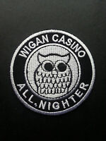NORTHERN SOUL MUSIC SEW ON / IRON ON PATCH:- WIGAN CASINO (c) ALL NIGHTER