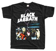 Black Sabbath - LIVE EVIL T SHIRT sizesS -5XL 100% cotton Iommi Ronnie James DIO