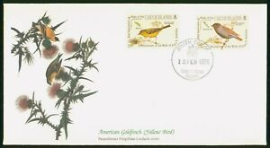 Mayfairstamps Caicos Islands FDC 1985 American Goldfinch John Audubon First Day