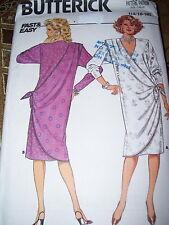 "BUTTERICK #3572-LADIES LOOSE ""V"" NECKLINE DRESS w/SIDE SCARF TIE PATTERN 14-18uc"