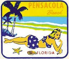 Pensacola Beach, FL  Vintage-1950's Style  Travel Decal