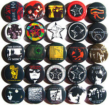 SISTERS OF MERCY Button Badges Pins Andrew Eldritch Goth Dark Wave Lot of 25