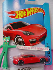Case E/F 2014 i Hot Wheels PORSCHE PANAMERA #40☆Sweet Red☆New Model☆Speed Team