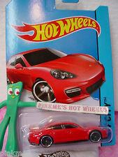 Case E/F 2014 i Hot Wheels PORSCHE PANAMERA #40☆Sweet Red☆New Model☆Speed Team