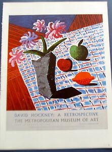 David Hockney Poster Reprint for Met Museum of Art Retrospective No 5  13x10
