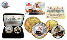 TITANIC RMS Ship *100th Anniversary*24K Gold US.A. Mint Legal Tender 2-Coin Set*